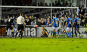 Bolton Wanderers score an equaliser during the The FA Cup third round match between Eastleigh and Bolton Wanderers at Silverlake Stadium, Ten Acres, Eastleigh, United Kingdom on 9 January 2016. Photo by Graham Hunt.