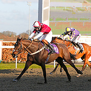 Pesenting Arms and Gary Derwin winning the 3.35 race