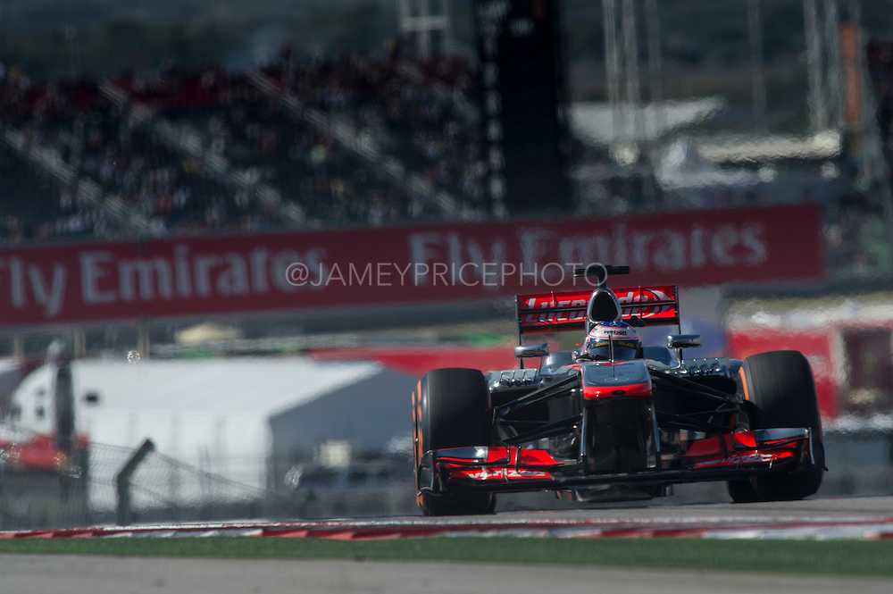 November 15- 17, 2013. Austin, Texas. United States Grand Prix 2013: Jenson Button, Vodafone McLaren Mercedes