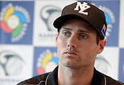 Scott Campbell at the Baseball New Zealand Diamond Blacks press conference ahead of competing at the World Baseball Classic Qualifier in Taiwan in November. Skycity Grand Hotel, Auckland, Friday 21 September 2012. Photo: Andrew Cornaga/Photosport.co.nz