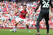 Arsenal defender Hector Bellerin (24) during the Premier League match between Arsenal and West Ham United at the Emirates Stadium, London, England on 22 April 2018. Picture by Bennett Dean.