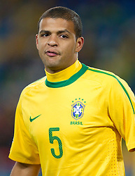 Felipe Melo of Brazil during the 2010 FIFA World Cup South Africa Group G match between Brazil and North Korea at Ellis Park Stadium on June 15, 2010 in Johannesburg, South Africa. Brazil defeated Korea 2-1. (Photo by Vid Ponikvar / Sportida)