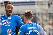 Ivan Toney (17) celebrates scoring the opener during the EFL Sky Bet League 1 match between Peterborough United and Rotherham United at London Road, Peterborough, England on 25 January 2020.