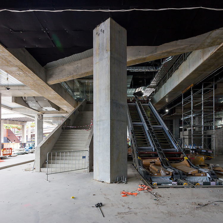 international convention centre (icc) sydney, darling harbour.  in construction december 2015