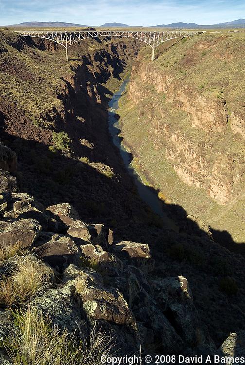 Rio Grande Gorge Bridge, 10 miles from Taos, New Mexico, USA