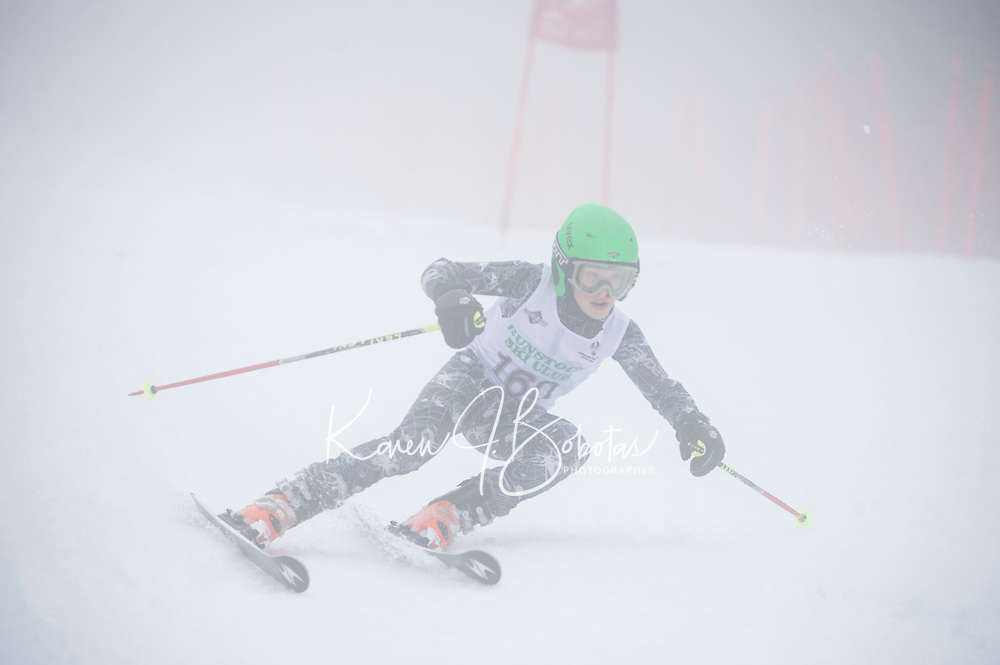 U 12 racers Gus Pitou Memorial alpine ski race January 13, 3013.