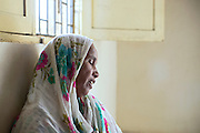 Shezadi Bee, 59, an activist for the ICJB (International Campaign for Justice in Bhopal) is recounting her dramatic, sorrowful story while sitting on the floor of their office in Bhopal, Madhya Pradesh, India.