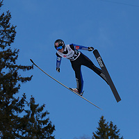 Raw Air photos from Vikersund Ski Flying Hill. Raw Air is a ten day ski jumping and ski flying tournament and is part of the World Cup competition. <br /> Raw Air 2017 was held in March 2017 in Norway at four different ski jumping hills - Oslo, Lillehammer, Trondheim and Vikersund. <br /> Vikersund Hill is a ski flying hill, in Modum, Norway. and it is the largest in the world. Nine world records have been set on this hill, with the current one at 253.5meters set by Stefan Kraft (Austria) on the 18th March 2017.