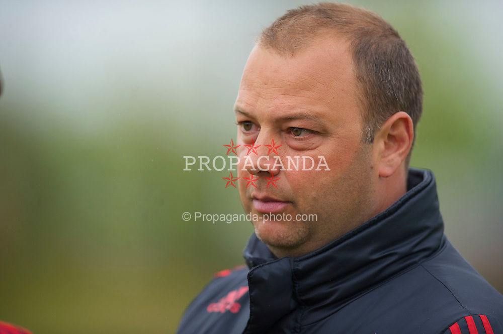 LIVERPOOL, ENGLAND - Thursday, April 29, 2010: Liverpool's Academy U18 Coach Rodolfo Borrell before the FA Academy Under-18's League match at the Academy. (Photo by David Rawcliffe/Propaganda)