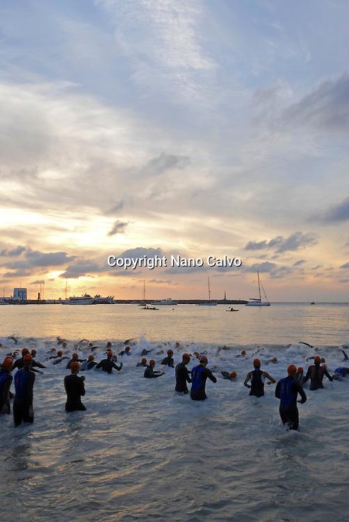 Start of Triathlon swimming phase