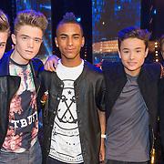 NLD/Hilversum/20130706 - Finale X-Factor 2013, B-Brave,  Kaj van der Voort, Cassius Verbond, Jai Wowor, Sam Leijten en Dioni Jurado-Gomez