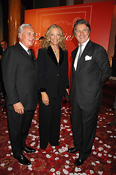 Left to right, BERNARD FORNAS CEO of Cartier, HRH PRINCESS MICHAEL OF KENT and ARNAUD BAMBERGER MD of Cartier UK  at a party to celebrate the launch of the 'Inde Mysterieuse' jewellery collection held at Lancaster House, London SW1 on 19th September 2007.<br />
