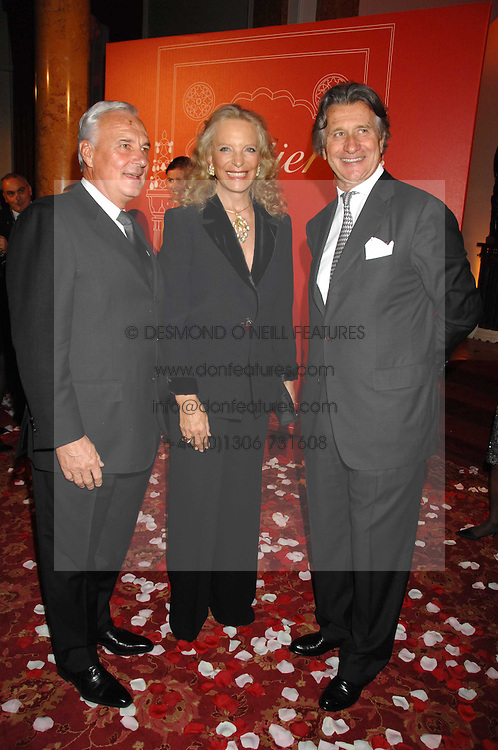 Left to right, BERNARD FORNAS CEO of Cartier, HRH PRINCESS MICHAEL OF KENT and ARNAUD BAMBERGER MD of Cartier UK  at a party to celebrate the launch of the 'Inde Mysterieuse' jewellery collection held at Lancaster House, London SW1 on 19th September 2007.<br /><br />NON EXCLUSIVE - WORLD RIGHTS