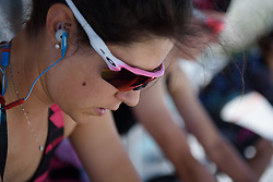 Elena Cecchini warms up for Stage 5 of the Giro Rosa - a 12.7 km individual time trial, starting and finishing in Sant'Elpido A Mare on July 4, 2017, in Fermo, Italy. (Photo by Sean Robinson/Velofocus.com)