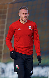 CARDIFF, WALES - Monday, November 12, 2018: Wales' Chris Gunter during a training session at the Vale Resort ahead of the UEFA Nations League Group Stage League B Group 4 match between Wales and Denmark. (Pic by David Rawcliffe/Propaganda)