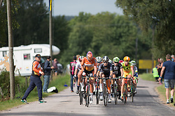 Chantal Blaak (NED) of Boels-Dolmans Cycling Team picks up a fresh bottle  during the 141 km road race of the UCI Women's World Tour's 2016 Crescent Vårgårda women's road cycling race on August 21, 2016 in Vårgårda, Sweden. (Photo by Balint Hamvas/Velofocus)