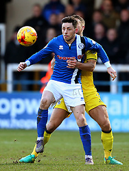 Ian Henderson of Rochdale and Lee Brown of Bristol Rovers - Mandatory by-line: Matt McNulty/JMP - 04/02/2017 - FOOTBALL - Crown Oil Arena - Rochdale, England - Rochdale v Bristol Rovers - Sky Bet League One