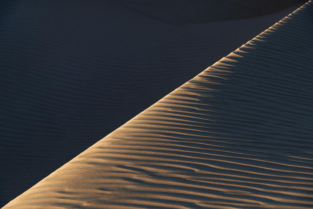 Abstract sand dunes at Lac Naila, Morocco.