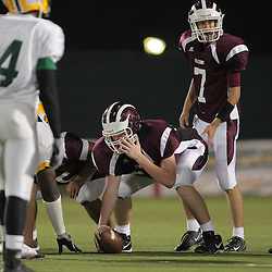31 October, 2008:  St. Thomas Aquinas C/DT Michael Prenger (#60) St. Thomas Aquinas QB/DB Ethan Bleakley (#7)  The St. Thomas Falcons recorded their first shut out of the season with a 41-0 shutout of the Southern Lab Kittens at Strawberry Stadium in Hammond, LA.