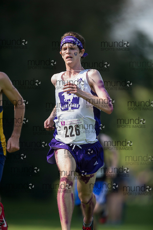 Robbie Timmermans of the Western Mustangs runs at the 2014 Western International Cross country meet in London Ontario, Saturday,  September 20, 2014.<br /> Mundo Sport Images/ Geoff Robins