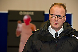 EMBARGOED TILL 16:00 14 DECEMBER 2017<br /> <br /> Pictured: Deputy Chief Constable Johnny Gwynne<br /> <br /> Deputy Chief Constable Johnny Gwynne was at Tullialan Police College today tol make an announcement on police officer safety with 500 sadditional officers being trained and deployed with tasers to combat the number of incidents where officers are injured.<br /> <br /> Ger Harley | EEm 14 December 2017