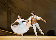 Giselle<br /> The Bolshoi Ballet <br /> at the Royal Opera House, London, Great Britain <br /> Act I rehearsal <br /> Choreography by Marius Petipa after Jean Coralli &amp; Jules Perrot<br /> production by Yuri Grigorovich<br /> <br /> Natalia Osipova (as Giselle)<br /> <br /> Ruslan Skvortsov<br /> (as Count Albrecht)<br /> <br /> Photograph by Elliott Franks