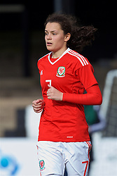 MERTHYR, WALES - Thursday, February 16, 2017: Wales' Grace Horrel in action during a Women's Under-17's International Friendly match against Hungary at Penydarren Park. (Pic by Laura Malkin/Propaganda)