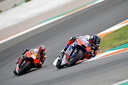 November 17, 2019, Cheste, VALENCIA, SPAIN: Iker Lecuina, of Red Bull KTM Tech 3 from Spain, rides  during the Race of the Valencia Grand Prix of MotoGP World Championship celebrated at Circuit Ricardo Tormo on November 16, 2019, in Cheste, Spain. (Credit Image: © AFP7 via ZUMA Wire)