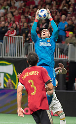 December 8, 2018 - Atlanta, Georgia, United States - Atlanta United goalkeeper BRAD GUZAN (1) catches a cross during the MLS Cup at Mercedes-Benz Stadium in Atlanta, Georgia.  Atlanta United defeats Portland Timbers 2-0 (Credit Image: © Mark Smith/ZUMA Wire)