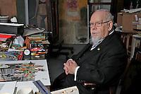 Sir Peter Blake in his West London Studio..Monday, Nov.28, 2011
