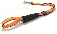 safety orange and black dog leash