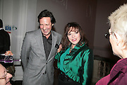 Percy Gibson and Joan Collins, ' Show Off' Theo Fennell exhibition co-hosted wit Vanity Fair. Royal Academy. Burlington Gdns. London. 27 September 2007. -DO NOT ARCHIVE-© Copyright Photograph by Dafydd Jones. 248 Clapham Rd. London SW9 0PZ. Tel 0207 820 0771. www.dafjones.com.