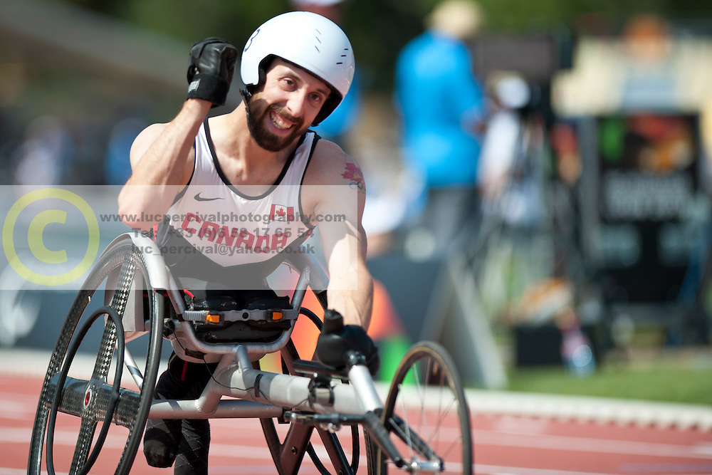 LAKATOS Brent, CAN, 100m, T53, 2013 IPC Athletics World Championships, Lyon, France