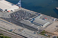 Aerial Photo of Maryland Port Administration Shipping Terminals including Dundalk Marine Terminal Maryland Cruise Terminal Seagirt Fairfield at the Port of Baltimore