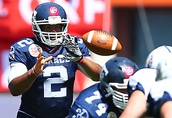 07.06.2014, Ernst Happel Stadion, Wien, AUT, American Football Europameisterschaft 2014, Spiel um Platz 3, Frankreich (FRA) vs Finnland (FIN), im Bild Perez  Mattison , (Team France, QB , #2) // during the American Football European Championship 2014 game for place 3 between France and Finland at the Ernst Happel Stadion, Vienna, Austria on 2014/06/07. EXPA Pictures © 2014, PhotoCredit: EXPA/ Thomas Haumer