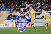 Ashley Eastham, Sid Nelson during the Sky Bet League 1 match between Rochdale and Millwall at Spotland, Rochdale, England on 13 February 2016. Photo by Daniel Youngs.