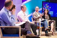 "Horacio Rozanski of Booz Allen Hamilton speaks on the ""Values at Work: Linking Purpose, Productivity and Performance"" panel at the 2014 Aspen Ideas Festival in Aspen, CO. ©Brett Wilhelm"