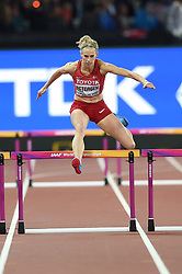 August 8, 2017 - London, England, United Kingdom - Sara Slott Petersen, Denmark,  during 400 meter  hurdles semifinal in London at the 2017 IAAF World Championships athletics. on August 8, 2017. (Credit Image: © Ulrik Pedersen/NurPhoto via ZUMA Press)