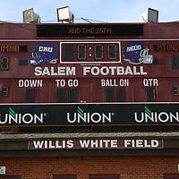 SALEM, VA - DECEMBER 13: during Stagg Bowl 45 media day practice at Salem Stadium on December 13, 2017 in Salem,VA. (Photo by Steve Frommell, d3photography.com)