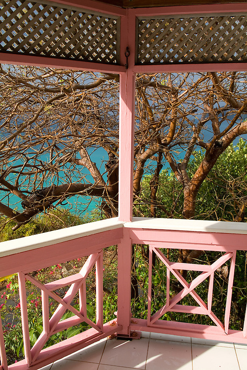 colorful deck in Tortola, BVI