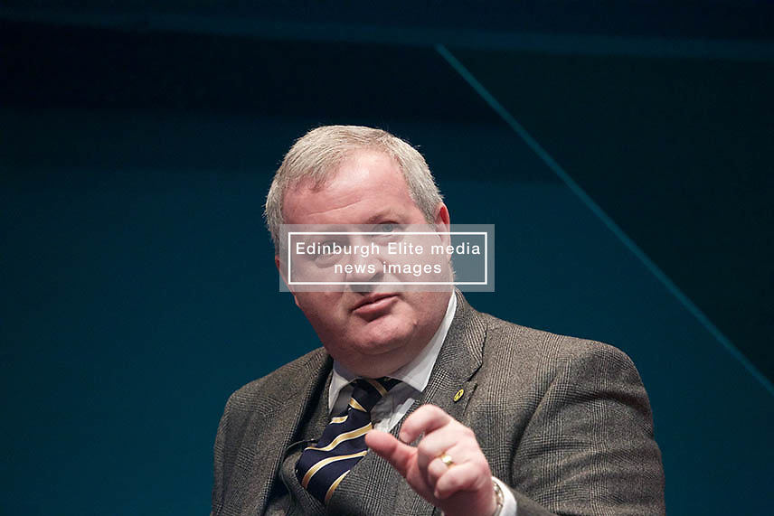 Ian Blackford, the SNP's Westminster leader, addressing the Pensions and Lifetime Savings Association annual conference in Edinburgh 09032018 pic copyright Terry Murden @edinburghelitemedia 07971 686038