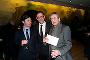DAVID RISLEY; DEXTER DALWOOD; ALAN CRISTEA, Turner Prize 2010. Tate Britain. Millbank. London. 6 December 2010. -DO NOT ARCHIVE-© Copyright Photograph by Dafydd Jones. 248 Clapham Rd. London SW9 0PZ. Tel 0207 820 0771. www.dafjones.com.