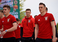 NANNING, CHINA - Wednesday, March 21, 2018: Wales' Billy Bodin during a team walk near the Wanda Realm Resort ahead of the 2018 Gree China Cup International Football Championship. (Pic by David Rawcliffe/Propaganda)