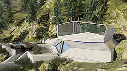 "Architects are often asked to think about houses for the next millennium - the house of the future.<br /> <br /> And that's precisely what architect Alex Wyzhevsky of Modern House Architecture & Design in Russia has done.<br /> <br /> Alex has come up with a bunker designed to be a safe harbour on a planet ""heading towards the apocalypse and a time when ""money, greed and a thirst for power rule the whole world, and military conflicts, riots, revolutions take place around this"".<br /> <br /> His house is called the CyberHouse Life, and this is why it's needed: ""After the outbreak of the zombie virus on Earth, dark times have come, the borders of countries have been erased, and states no longer exist.<br /> <br /> ""Chaos, devastation, agony are everywhere. Only those who were ready for such a turn of events survived and took care of a reliable shelter. An important role was played by private bunker houses. As one of the most reliable shelters, Cyber ​​House has established itself.<br /> <br /> ""The survivors are trying to rethink their lives. Mutual assistance has grown significantly. People seek to help each other. New leaders are trying to unite the survivors.<br /> <br /> ""Somewhere in the ocean, a small group of islands, to which the best representatives of mankind from all countries were sent to save, created a new state. A state that preaches love and kindness, mutual assistance and openness.<br /> <br /> ""Such a policy has led to the fact that they have achieved tremendous success in relations and in a short time have formed into a highly developed civilisation.<br /> <br /> ""And of course, such a rapid development has greatly influenced architecture. It has become more comfortable and environmentally friendly, and the use of new materials and technologies has allowed us to take a different look at our usual living spaces, translating them into the highest possible level of comfort.<br /> <br /> ""Their housing is not only beautiful, but also as safe as possible. And it's ready to protect their residents from any cataclysm.""<br /> <br /> To provide that safety, the architect"