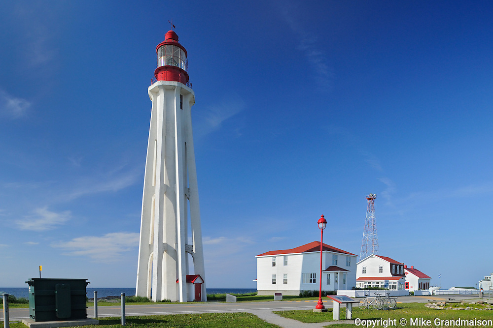 lighthouse on Gulf of St. Lawrence<br /> _Pointe-Au-Pere National Histtoric Site<br /> Quebec<br /> Canada