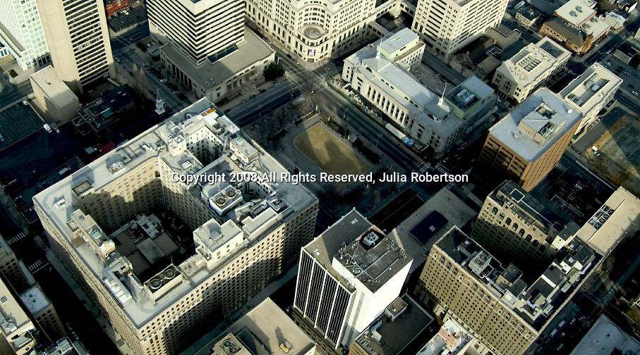Aerial view of Rodney Square and hotel dupont Wilmington, DE,