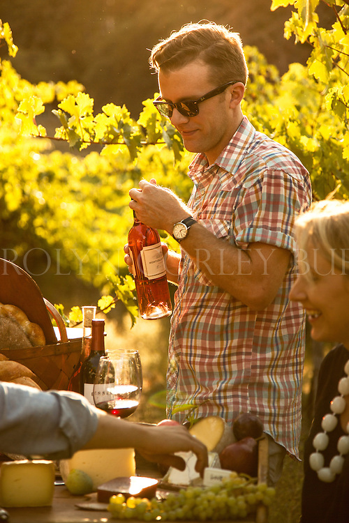 Napa Valley Vineyard Party Editorial shoot
