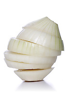Studio shot of onion on white background