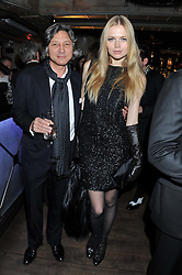 LEON MAX and KATIA ELIZAROVA at the Wild for WSPA dinner in aid of the charity World Society for the Protection of Animals held at Under The Bridge, Stamford Bridge, Fulham Road, London on 23rd February 2012.