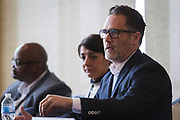 Zach Brandon from the Greater Madison Area Chamber of Commerce speaks during the Cap Times Idea Fest 2018 at the Pyle Center in Madison, Wisconsin, Saturday, Sept. 29, 2018.